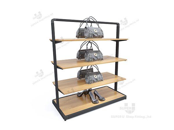 Superb Wholesale Store Wooden Handbag Display Shelf Design Fixture Download Free Architecture Designs Jebrpmadebymaigaardcom