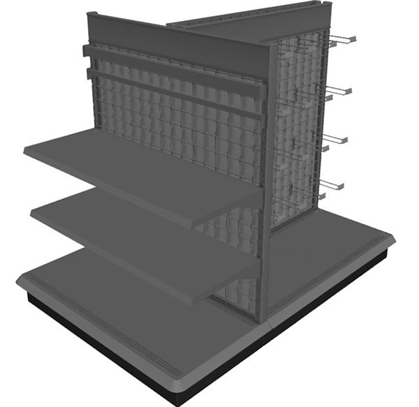 Best Buy Gondola Shelving 3D Model For Apparel Shop - Boutique Store