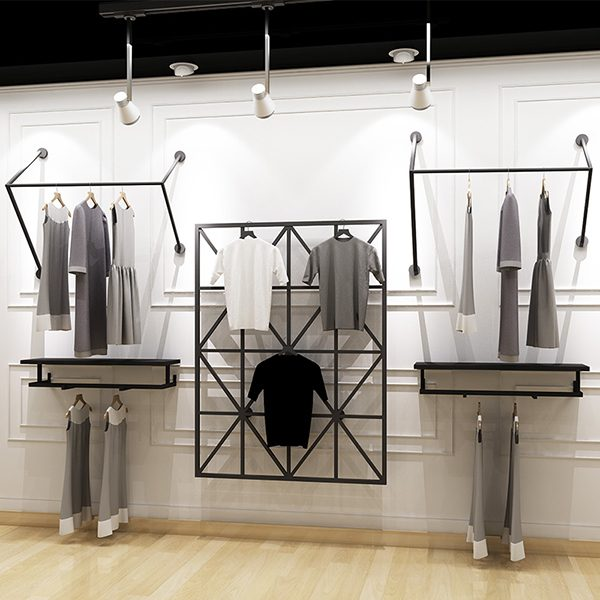 1fb62bfd22 Boutique Cheap Retail Black Decorative Wall Display Shelf For ...