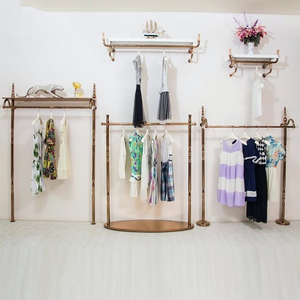 eb17173faa Clothing Store Stainless Steel Wall Display Racks Wholesale Fixtures ...