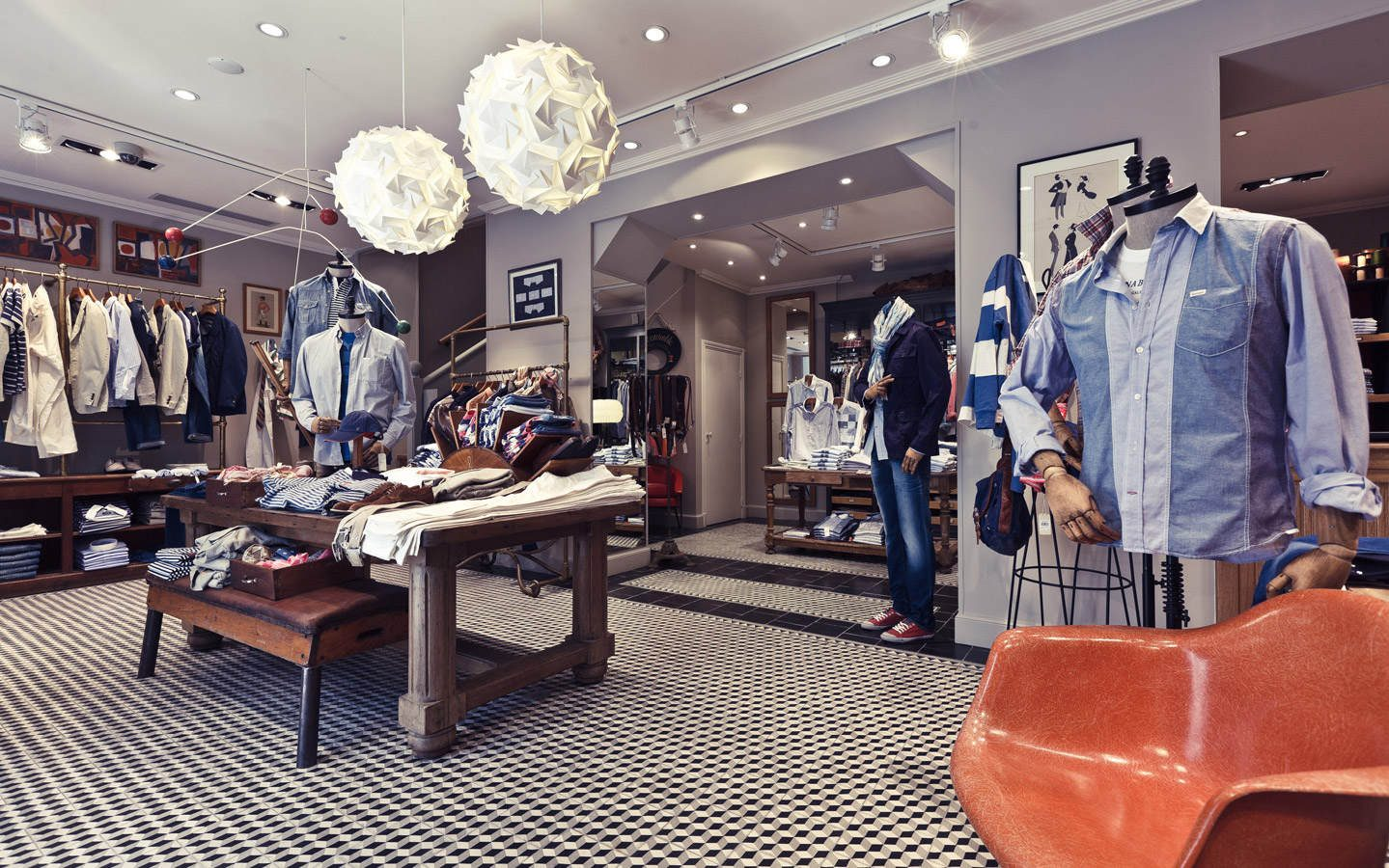 Fashion retail decoration shops design ideas for mens - Men s clothing store interior design ideas ...