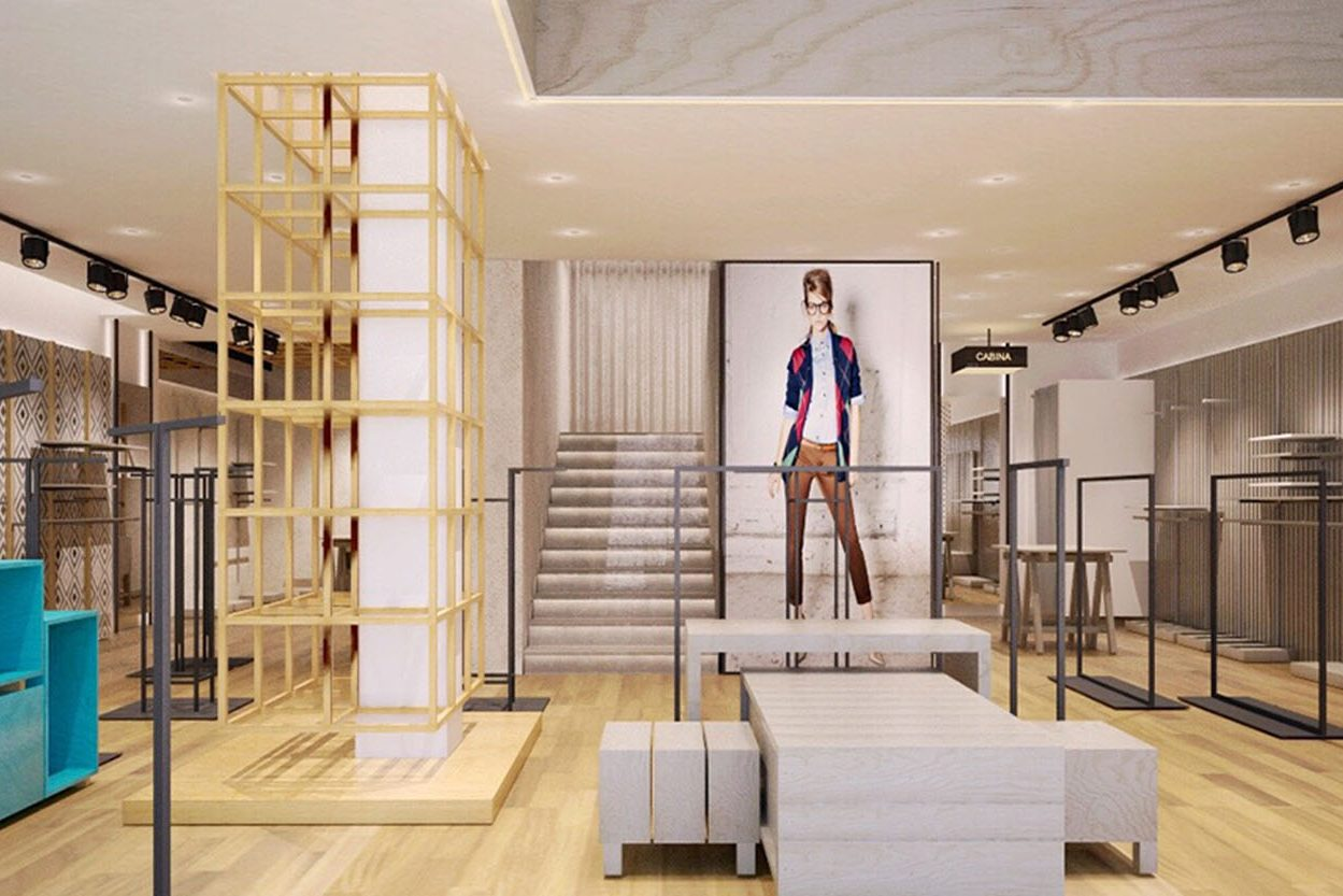 High fashion great men 39 s apparel stores display boutique - Men s clothing store interior design ideas ...