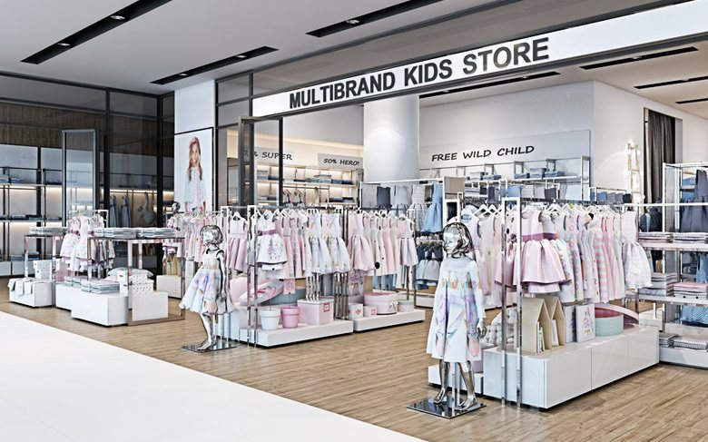 465ee817970 Modern Popular Readymade Garments Shop Interior Design. Location :  European; Tag : Kids Clothing ...