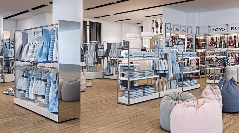readymade garments shop decoration ladies garments shop