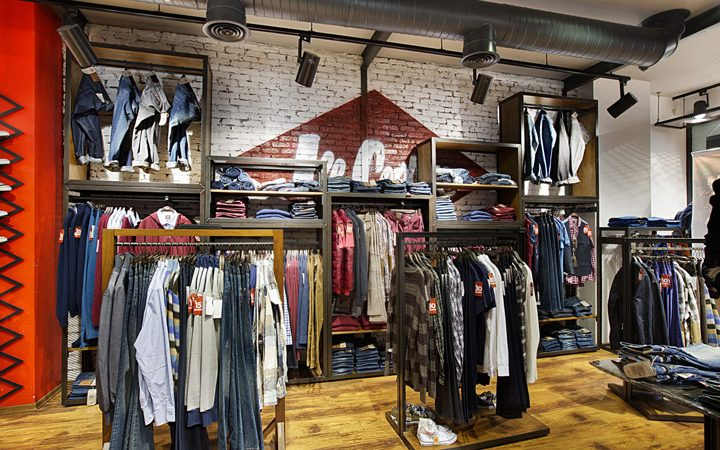 Small names clothing stores suppliers showroom furniture - Men s clothing store interior design ideas ...