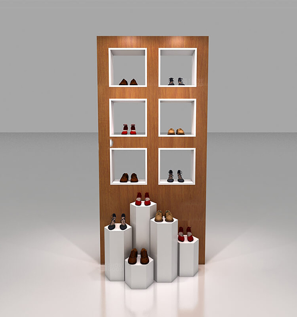 Trade Display Stands : Fashionable trade show wall mounted shoe display stands boutique