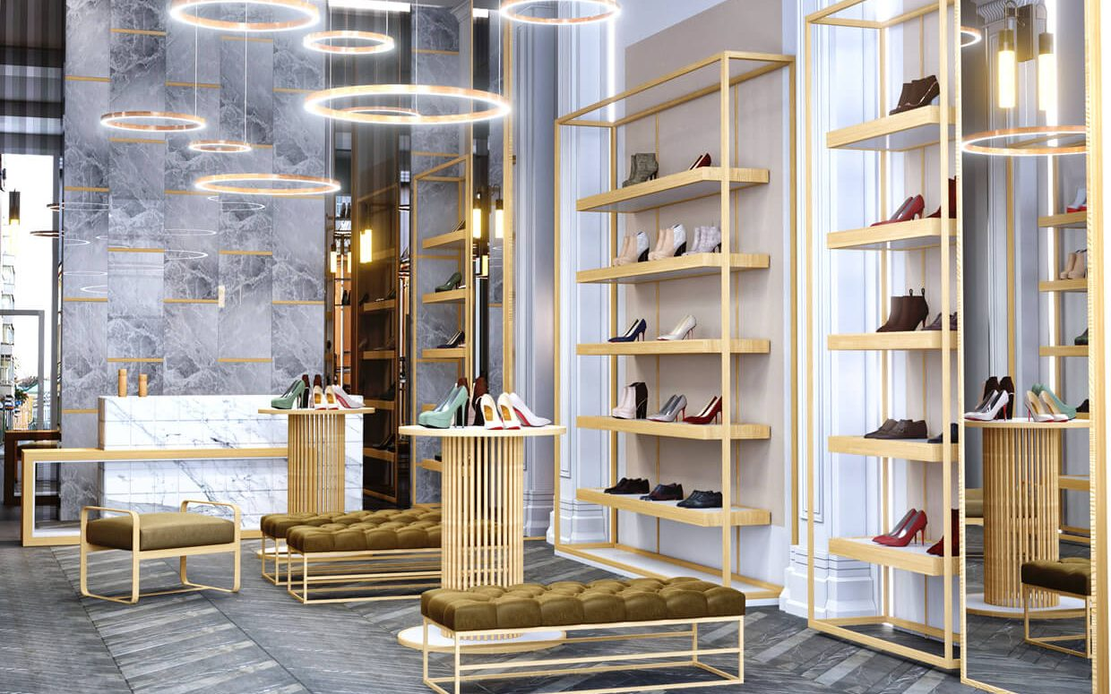 Footwear Showroom Interior Design Display - Boutique Store ...