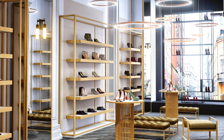 Footwear Showroom Interior Design Display - Boutique Store ...