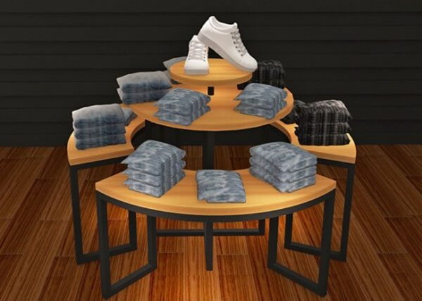 Promotion Round Retail 3 Piece Nesting Tables For Clothing