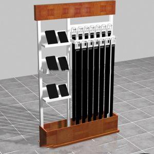 2dd88dd48 Shopping Mall Custom Metal With Wood Wallet Belt Display Rack Design